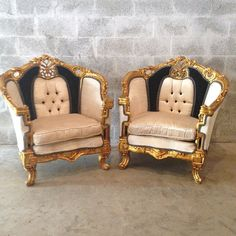 Antique French Louis XVI 5 Piece Chair by SittinPrettyByMyleen