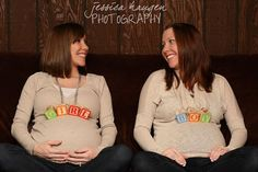 Maternity ~ Twin sisters, both pregnant    © Jessica Haugen Photography  {facebook.com/jessicahaugenphotography}