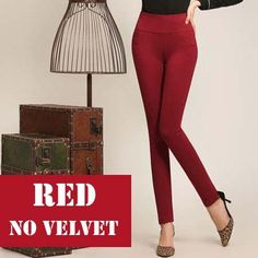 High Waist 2016 Winter Warm Women Pencil Pants Fleece Warm Trousers Female Black Femme Velvet Pants Plus Size S-4XL Pantalon
