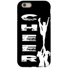 Black Cheerleader iPhone 6/6s Tough Case Easy access to all ports and controls  #cheer #cheer #cheerleading #cheerleaders #allstars #iphone #phone #case #cases #covers #giftideas