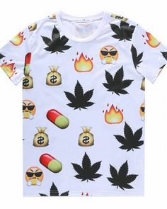 c7f602c098bc Emoji t shirts 3D design short sleeve tee for teens Cute Cartoon Faces