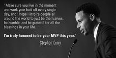 Stephen Curry: A true MVP, on and off the court.