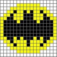 Free Batman Logo Cross Stitch Chart or Hama Perler Bead Pattern Crochet Pixel, Crochet Chart, Crochet Stitches, Free Crochet, 8 Bit Crochet, Pixel Crochet Blanket, Loom Beading, Beading Patterns, Crochet Patterns