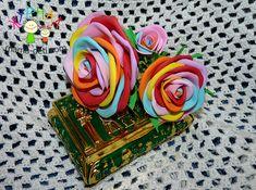 Радужная роза из фоамирана | Цветы своими руками