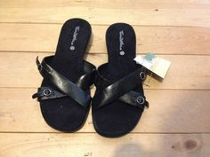 Women's Size 7 1/2 Slip on Black Dress Sandal Thom Mcnan NEW #thommcnan #Slides