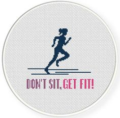 FREE for May 20th 2014 Only - Dont Sit Get Fit Cross Stitch Pattern