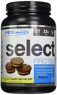 PEScience Select Low Carb Protein Powder, Chocolate Peanut Butter Cup, 55 Serving, Keto Friendly and Gluten Free Casein Protein, Pure Protein, Milk Protein, Chocolate Peanut Butter Cups, Chocolate Peanuts, Low Carb Protein Powder, Whey Protein Concentrate, Low Sugar, Food