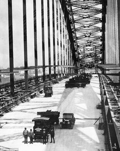 An poster sized print, approx (other products available) - circa Sydney harbour bridge under construction. (Photo by Fox Photos/Getty Images) - Image supplied by Australian Views - poster sized print mm) made in Australia Famous Bridges, Sydney Harbour Bridge, Harbor Bridge, Home Movies, View Image, Photo Wall Art, Poster Size Prints, Photo Mugs, Photo Gifts