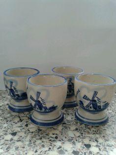 Eierdoppen Holland Delfts blauw.