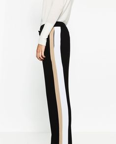 Image 4 of TROUSERS WITH SIDE BAND from Zara