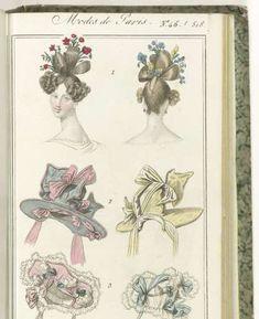 Petit Courrier des Dames, 10 décembre 1827, No. 45 /518: 1. Coiffure Exécutée par M.r Angé..., anonymous, 1827 - Rijksmuseum