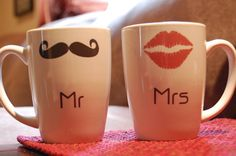 Cute couples mugs