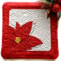 The reversible Christmas Table Topper can be made with two fabrics for more decor choices!