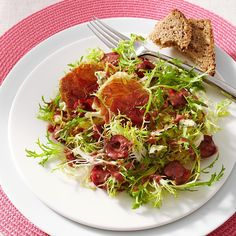 Frisee Salad with Cherries & Blue Cheese