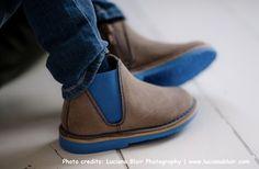 Chelsea suède laarzen met contrasterende elastiek en zool