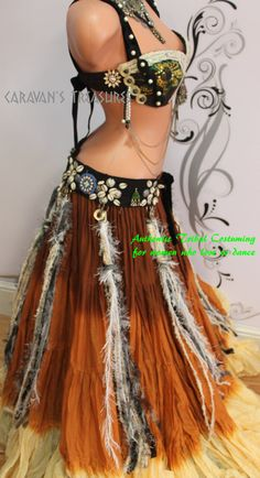 Feather Fringe-Tassle Belly Dance Belt