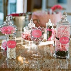 Wedding Candy Bar in the Theme Color of your Wedding