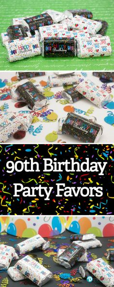 Make Your Own DIY Happy 90th Birthday Party Treats By