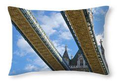 "Tower Bridge 20"" x 14"" Throw Pillow by Christi Kraft, $47.  Multiple sizes available."