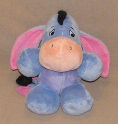 "Disney Eeyore Plush Stuffed Animal 10"" Toy Walmart Purple Tummy WMDREAMSZ 0410…"