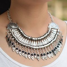Chunky Pendant Statement Boho Tribal Tassel Metal Bib Collar Necklace Black F332K07 Thboxes http://www.amazon.com/dp/B014R122IK/ref=cm_sw_r_pi_dp_ddVfwb0Y1MWYP