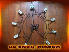 Gear Fire Fans by IanDustrialIronworks on Etsy, $150.00