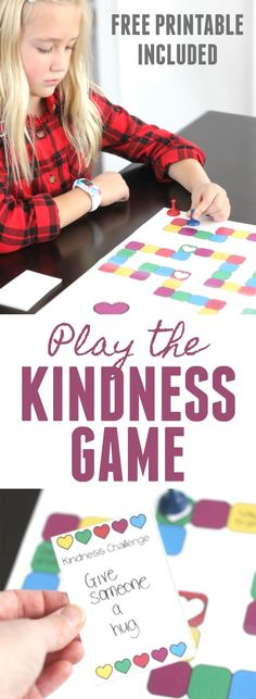 Kindness Challenge: Play the Kindness Challenge Game #100actsofkindness