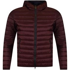 COLMAR ORIGINALS Colmar Burgundy Hooded Puffer Jacket - Jackets/Coats from Brother2Brother UK