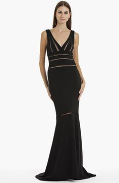 JS Collections Illusion Cutout Mermaid Gown | Nordstrom. Gorgeous, especially for hourglass-shaped women