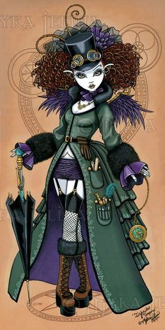 Temple Victorian Steampunk Vampire Angel Art Print by MykaJelina Gothic Angel, Gothic Fairy, Amy Brown, Pop Art, Street Art, Gothic Fantasy Art, Fantasy Images, Mika, Art Et Illustration
