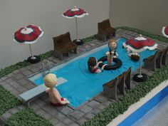 swimming pool cakes | Mels Amazing Cakes Chester » Blog Archive » Swimming pool reunion ...