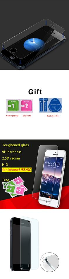 Film on the for Apple iPhone5 5S 5C SE Tempered Glass Screen Protector For iPhone 5 5S 5C SE HD Toughened Protective Film