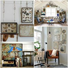chairs as hanging art on the wall - Google Search