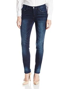 b29b9f2b9bd32 DKNY Jeans Women s Soho Skinny Knit Denim Kinetic Wash