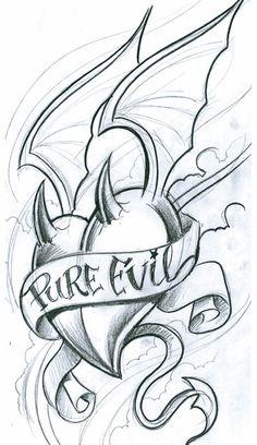 Evil Tattoo Flash Art | , art, flash, pictures, images, gallery, symbols, pure evil tattoo ...
