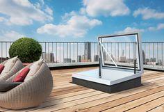 Roof hatch ideas – modern rooftop access options %%page%% Retractable Pergola, Diy Pergola, Pergola Plans, Pergola Kits, Pergola Ideas, Pergola Shade, Balcony Ideas, Terrace Ideas, Roof Access Hatch