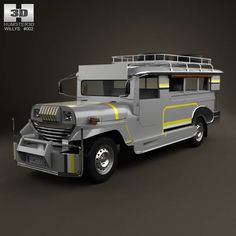 Willys Jeepney Philippines 2012 3d model from humster3d.com. Price: $75