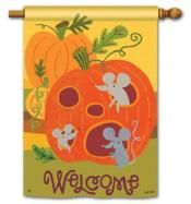 Magnet Works House Flag - Pumpkin Critters