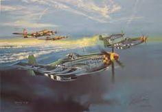 Resultado de imagem para aviation art p51d