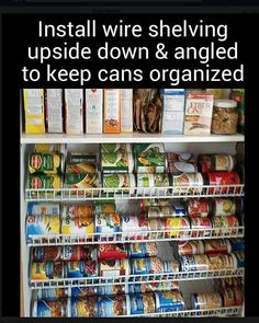 Pantry Cabinets - 7 Ways to Create Pantry and Kitchen Storage Pantry Cabinet solutions - 7 ways to create functional pantry storage. Make life easier & get more storage with pull out pantry cabinets, rollers, stackable containers Pantry Storage, Pantry Organization, Pantry Ideas, Pantry Diy, Canned Food Storage, Can Storage, Pantry Shelving, Organized Pantry, Pantry Makeover