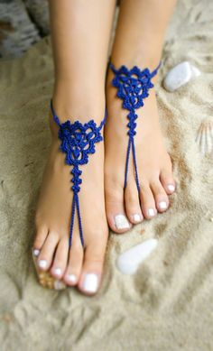 ***New item from Bryleens*** These Royal Blue barefoot sandals is a perfect choise for your bridesmaids.  Suitable for walks along the beach, for beach wedding, for photo shoes, beach pool.  The price is for a pair. Please select your US shoe size from the drop-down menu.  If you want to see all of my barefoot sandals please follow the link  https://www.etsy.com/shop/Bryleens?ref=hdr_shop_menu   P A Y M E N T:  Payments in my store can be made via PayPal account or Cr...