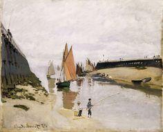 Breakwater at Trouville, Low Tide. Claude Monet