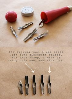 I just wish I could find some of this mastercarve stuff....minna may » blog: diy hand carved stamp tutorial!