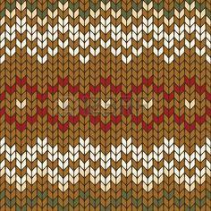 Seamless knitted geometric pattern