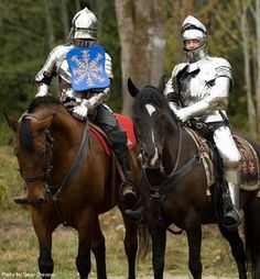 Yes, we have knights in shining armor. On horseback. They joust.