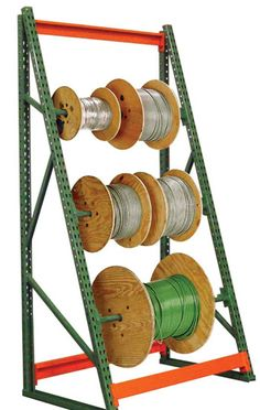 Wire Spool Racks in Salt Lake City, Utah  || NationWide Shelving || 801-328-8788 http://www.nationwideshelving.com/wire-spool-racks-salt-lake-city-utah.php Reel Racks are for wire storage, which efficiently organizes and transports rolls of wire and cable. There are reel mount racks, high capacity wire reel storage rack, wire reel caddies, heavy duty reel dispensers, reel dispensers, and heavy-duty wire meters, and more. #WireSpoolRacks #ReelRacks #WireSpoolRacksSaltLakeCityUtah