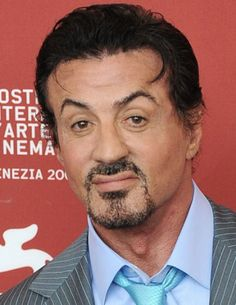 Sylvester Stallone's eyebrows after bad plastic surgery.
