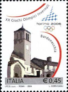"""2004 - XX giochi olimpici invernali """"Torino 2006"""" -  Bardonecchia, chiesa parrocchiale di San Pietro Apostolo"""