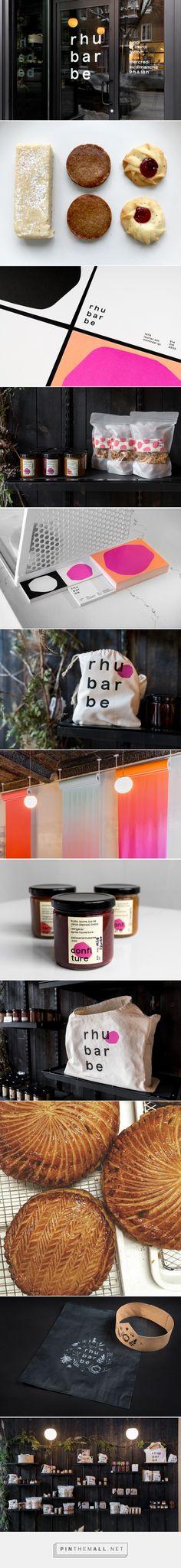 Pâtisserie Rhubarbe on Behance. Cafe branding, modern, brand design, branding, visual identity