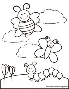 free spring time coloring